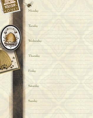 Weekly Planner - Honey & Grey