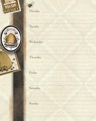 Weekly Planner - Honey & Grey