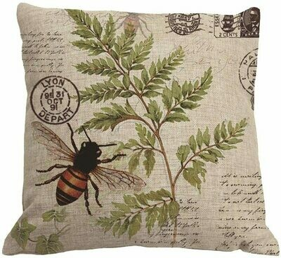 Bee on Fern with Stamps