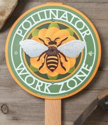 Pollinator Work Zone Garden Sign