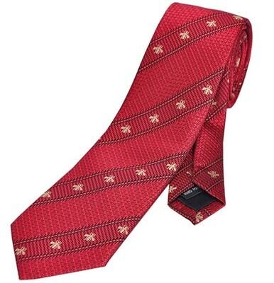 Red Stripe Bee Tie