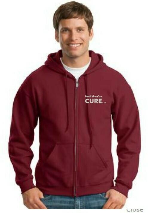 Maroon Zipper Hoodie Sweatshirt
