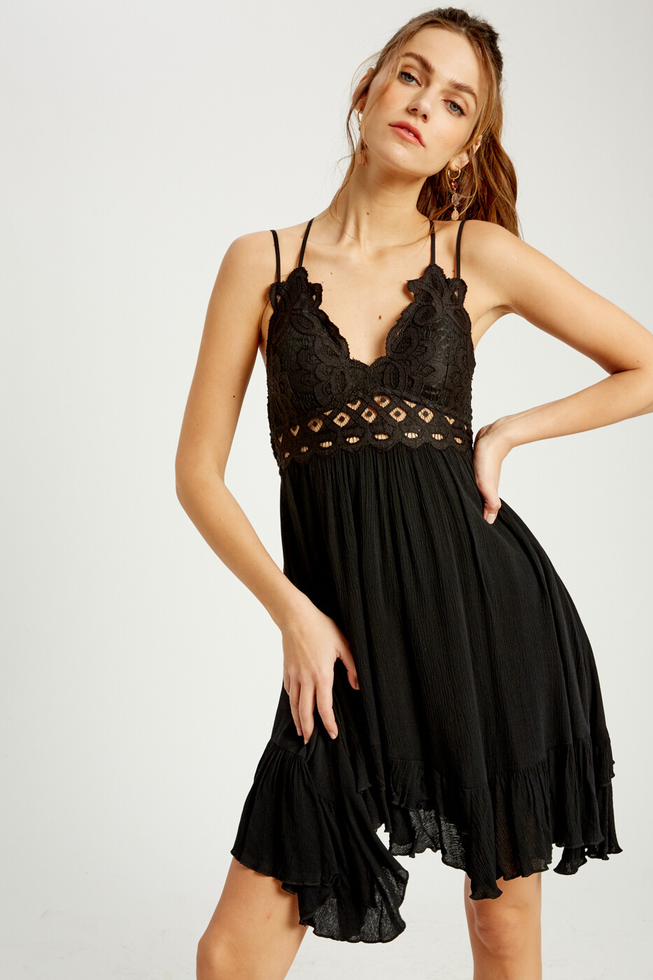 Black Short Dress w/Bralette Top