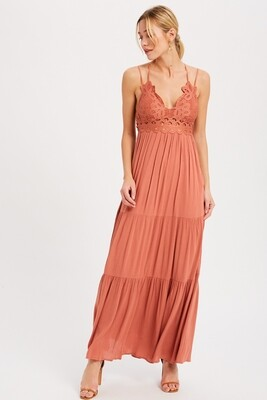 Sleeveless Maxi in Brick