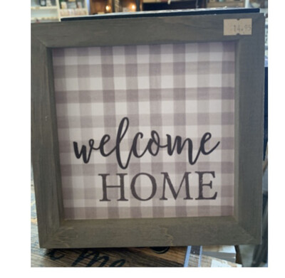 Welcome Home Checkered