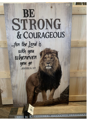 Be Strong and Courageous Large Lion