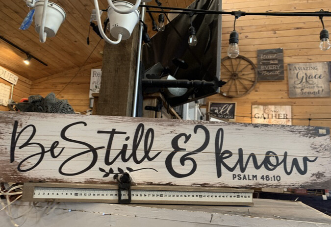 Be Still and Know White Psalm 46:10