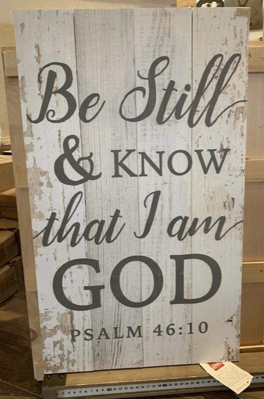 Be Still & Know Psalm 46:10