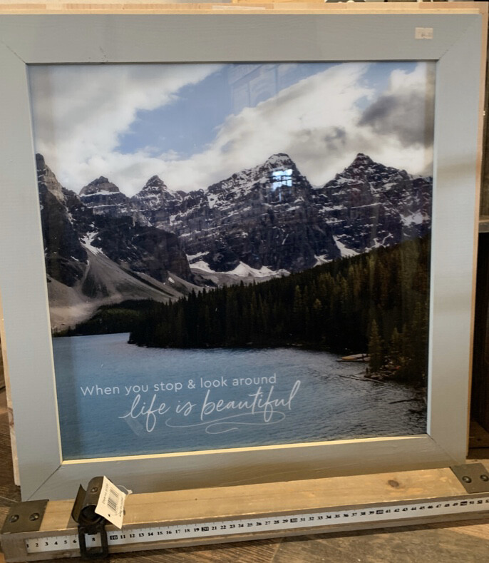 When You Stop and Look Life is Beautiful Framed