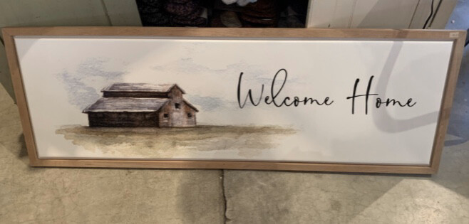 Welcome Home LARGE Heavy Picture