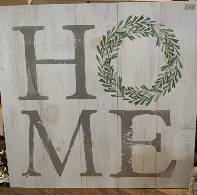 Home Eucalyptus Wreath Sign