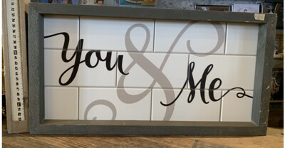 You and Me Tiled with Frame