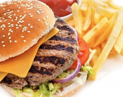 Angus Hamburger or Veggie Burger