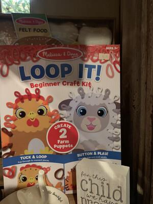 Loop It Beginner Craft Kit create 2 farm Puppets
