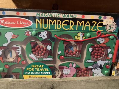 Magnetic Wand Number Maze