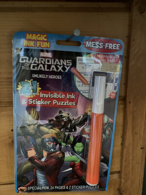 Guardian Galaxy Invisible Ink & Sticker Puzzles