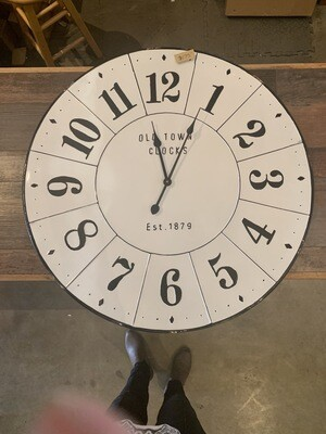Old Town Clocks White Black Large Numbers 1879 32""