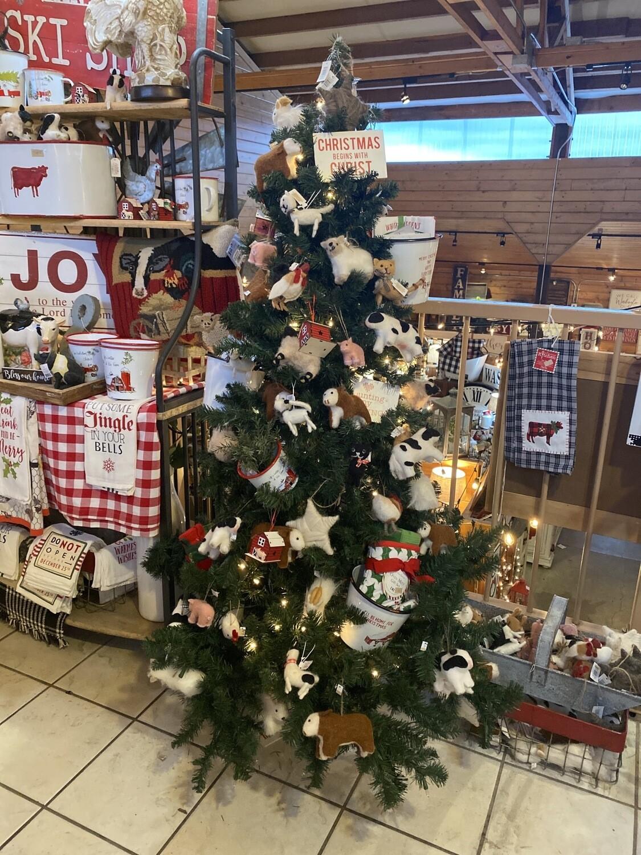 Farm Christmas Tree Display