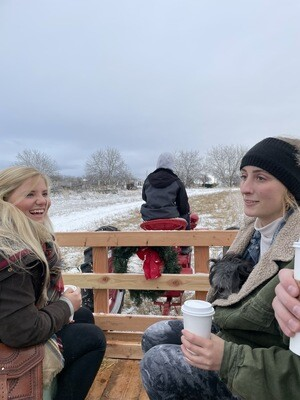 GreenBluff Christmas Experience Tractor Drawn Ride with Lunch, Music, Lights & Fun to Neighboring Tree Farms