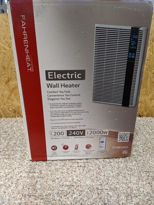 Electric Wall Heater 2000W 240V #1128