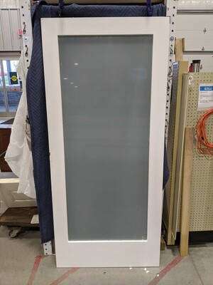 White Full Length Glass 36 x 80 Door #2302