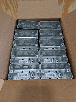 Case of 50 Galvanized Steel Electrical Box #1506