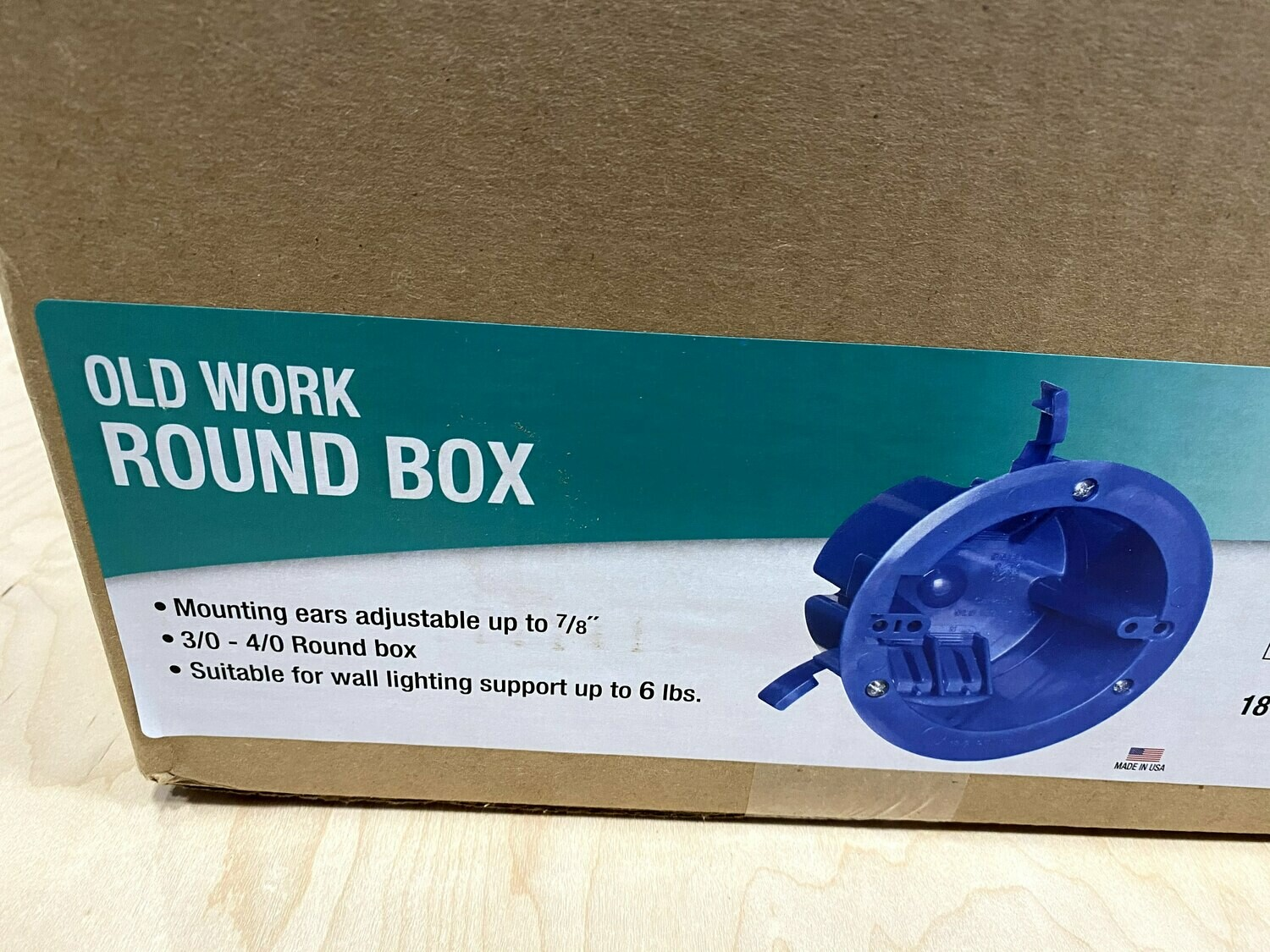 Case of 75  3/0-4/0 Ceiling Box #1504