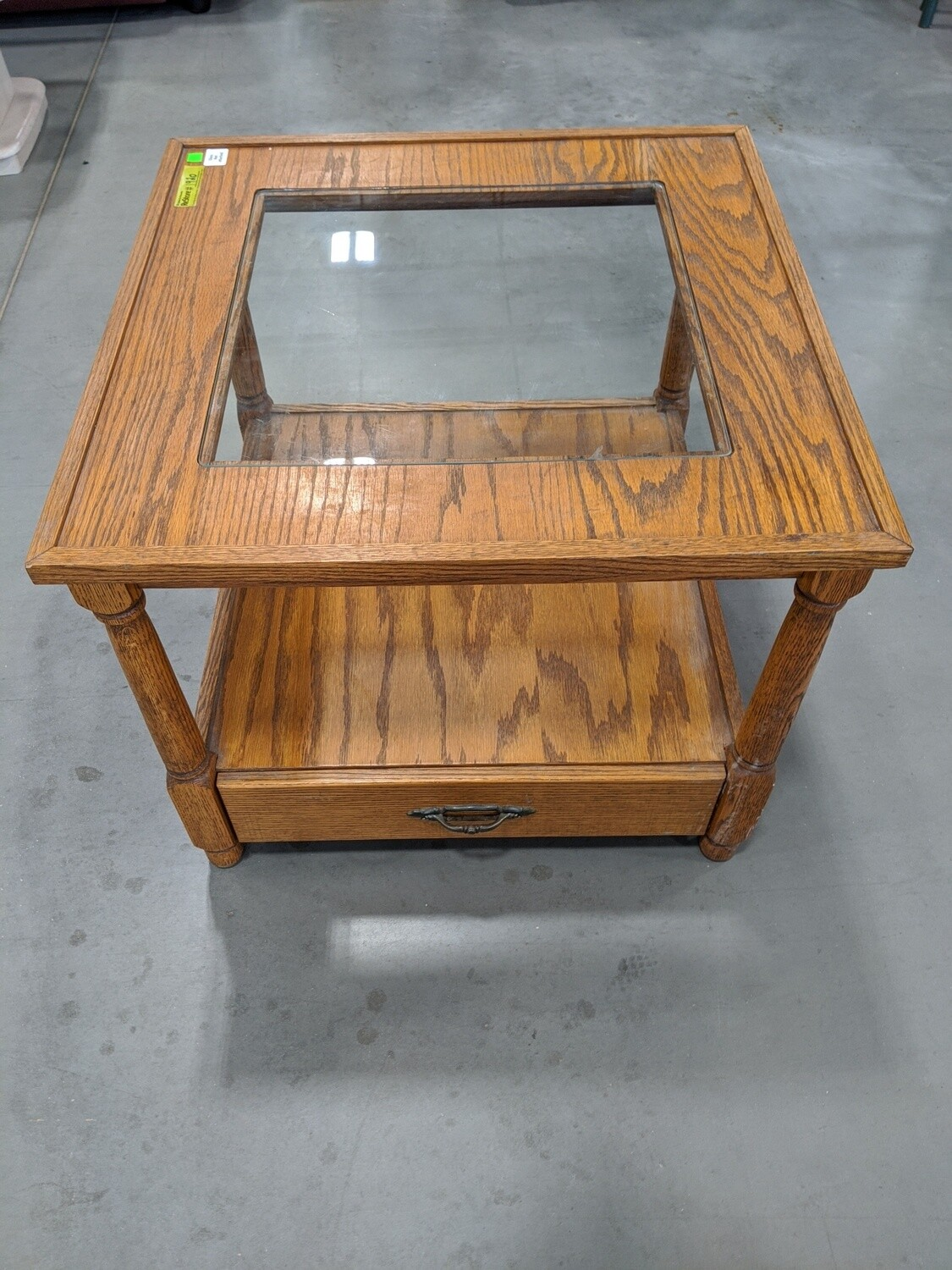 Glass Top End Table #1920