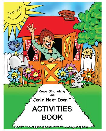 ACTIVITIES BOOK - Come Sing Along with Janie Next Door™ Activities Book