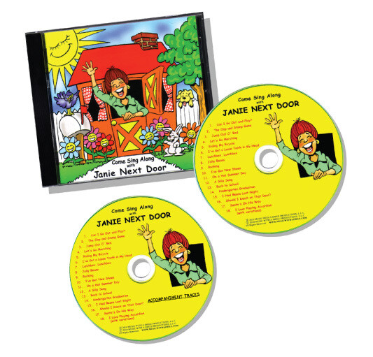 DOUBLE CD SET - Come Sing Along with Janie Next Door™ (Including Accompaniment Tracks)