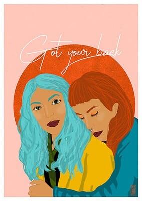 Got Your Back (A4) illustration print