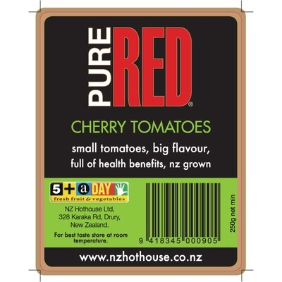 Pure Red Cherry Tomatoes 250g
