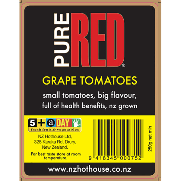 Pure Red Grape Tomatoes 250g