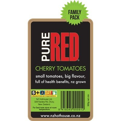 Pure Red Cherry Tomatoes 500g family