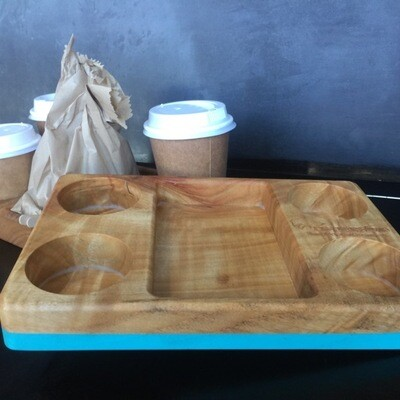 Coffee tray. Because you cannot drink in, and cardboard is so last week