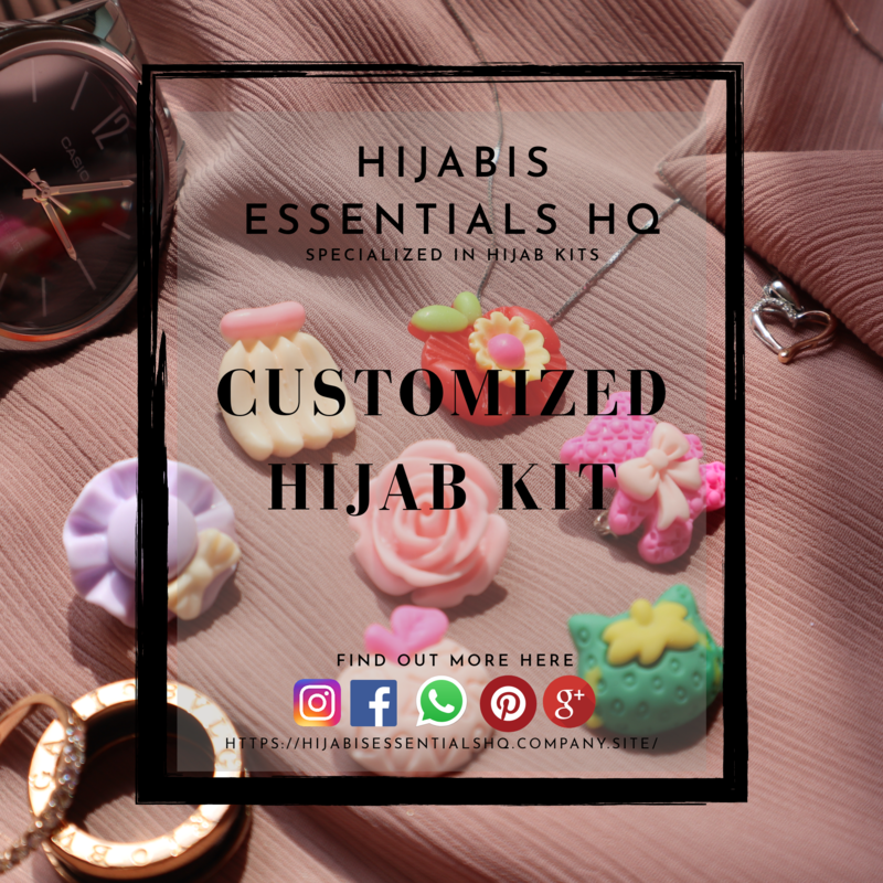 Customized  Hijab Kits | Pins Top-up