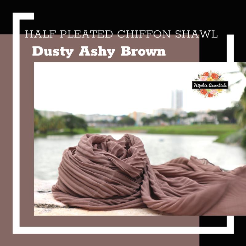 Half Pleated Chiffon Shawl