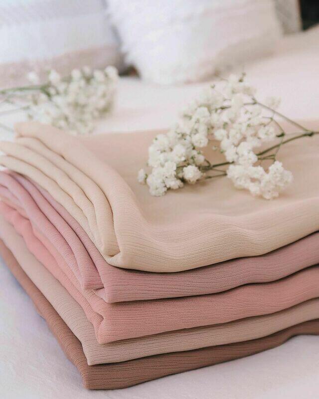 Premium Crepe + Hijab Kits Bundle Set