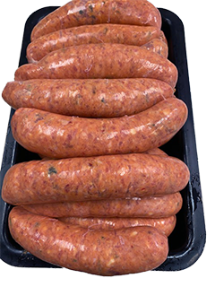 Chilli Beef & Cheese Sausages (thick) - Per Kg