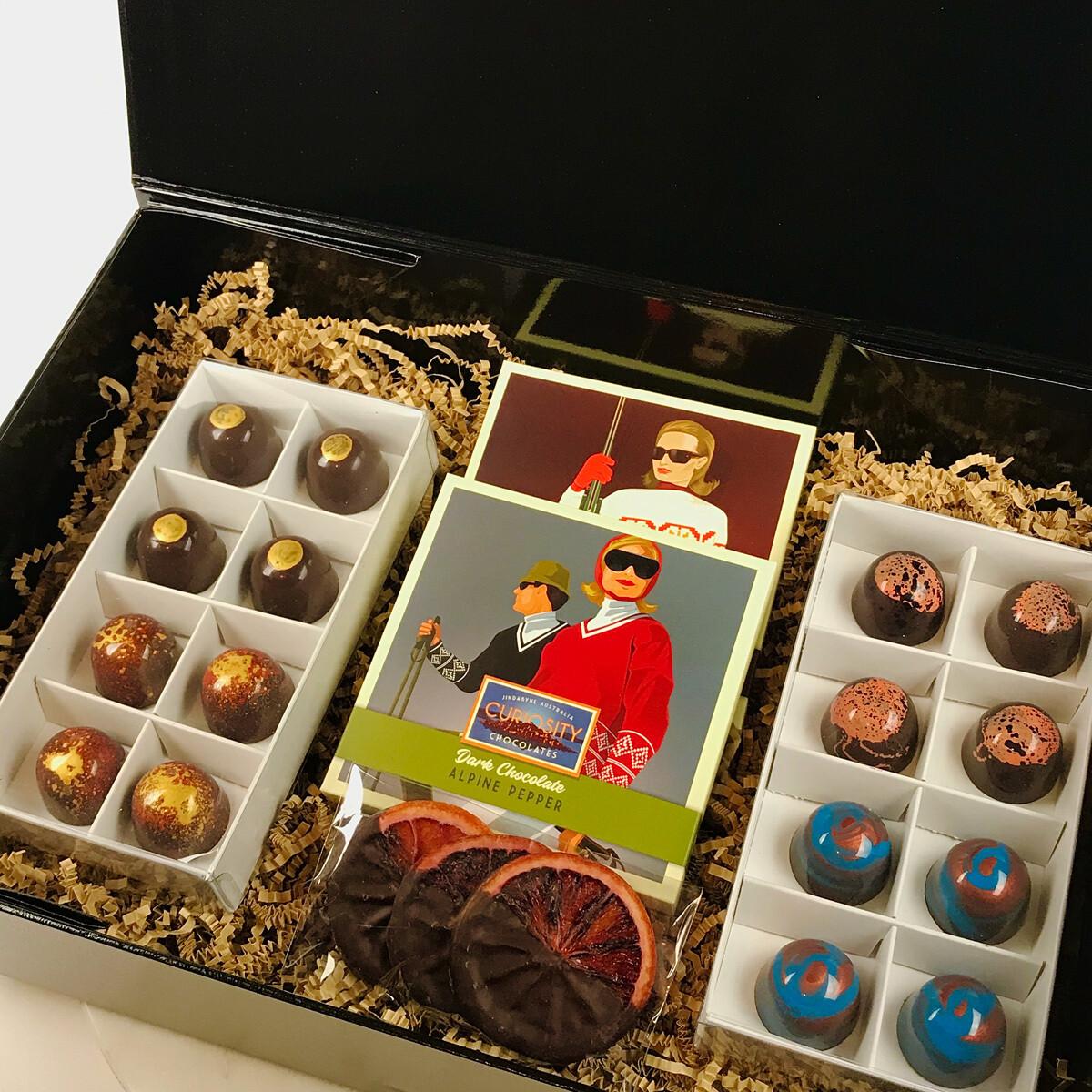 DARK CHOCOLATE LIQUEUR SELECTION GIFT BOX