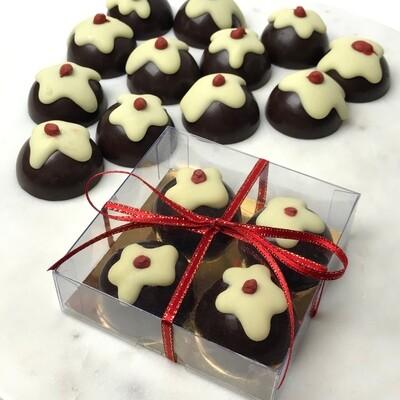 CHOCOLATE XMAS PUDDINGS