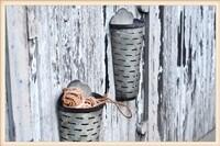 Set of 2 Olive Wall Basket