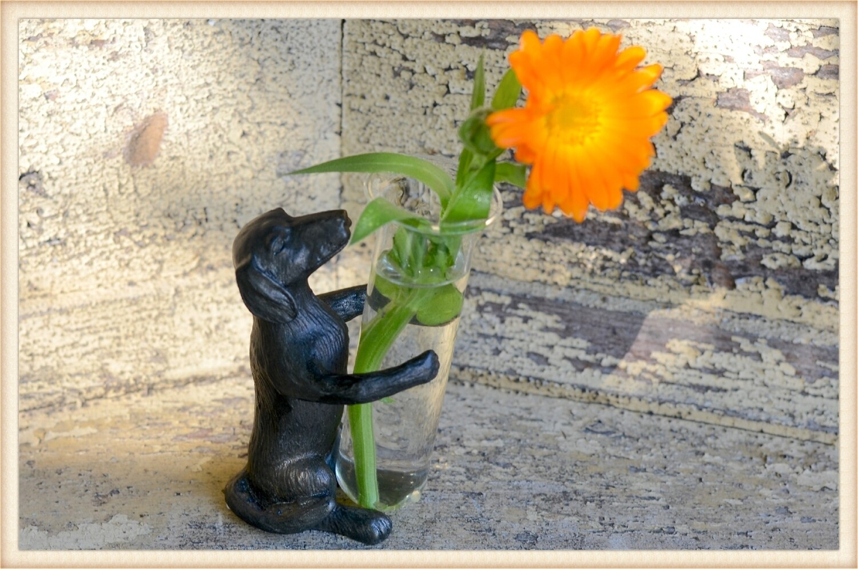 Dog Bud Vase