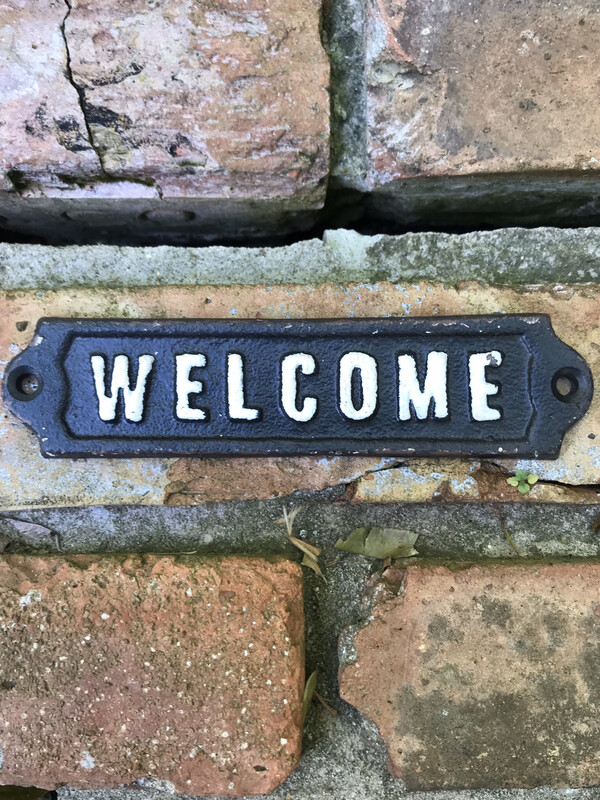 'Welcome' Sign