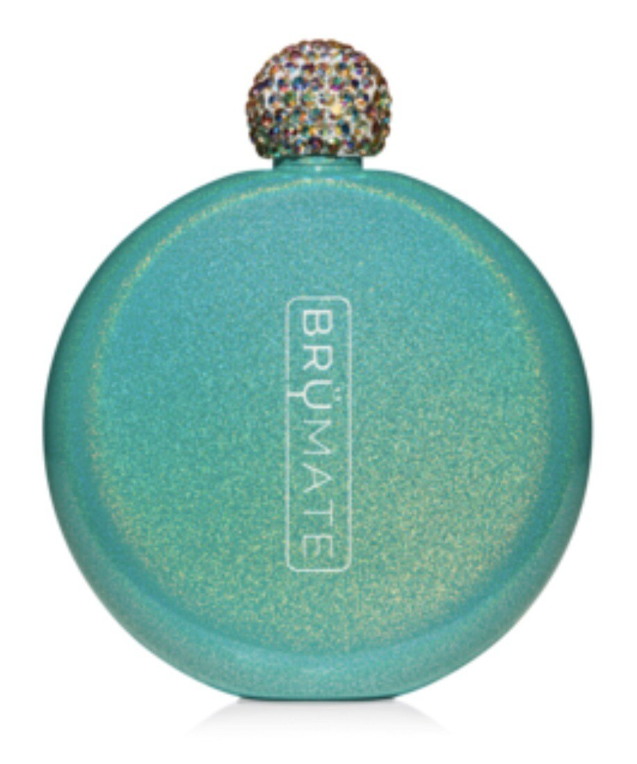 Glittered Peacock Flask