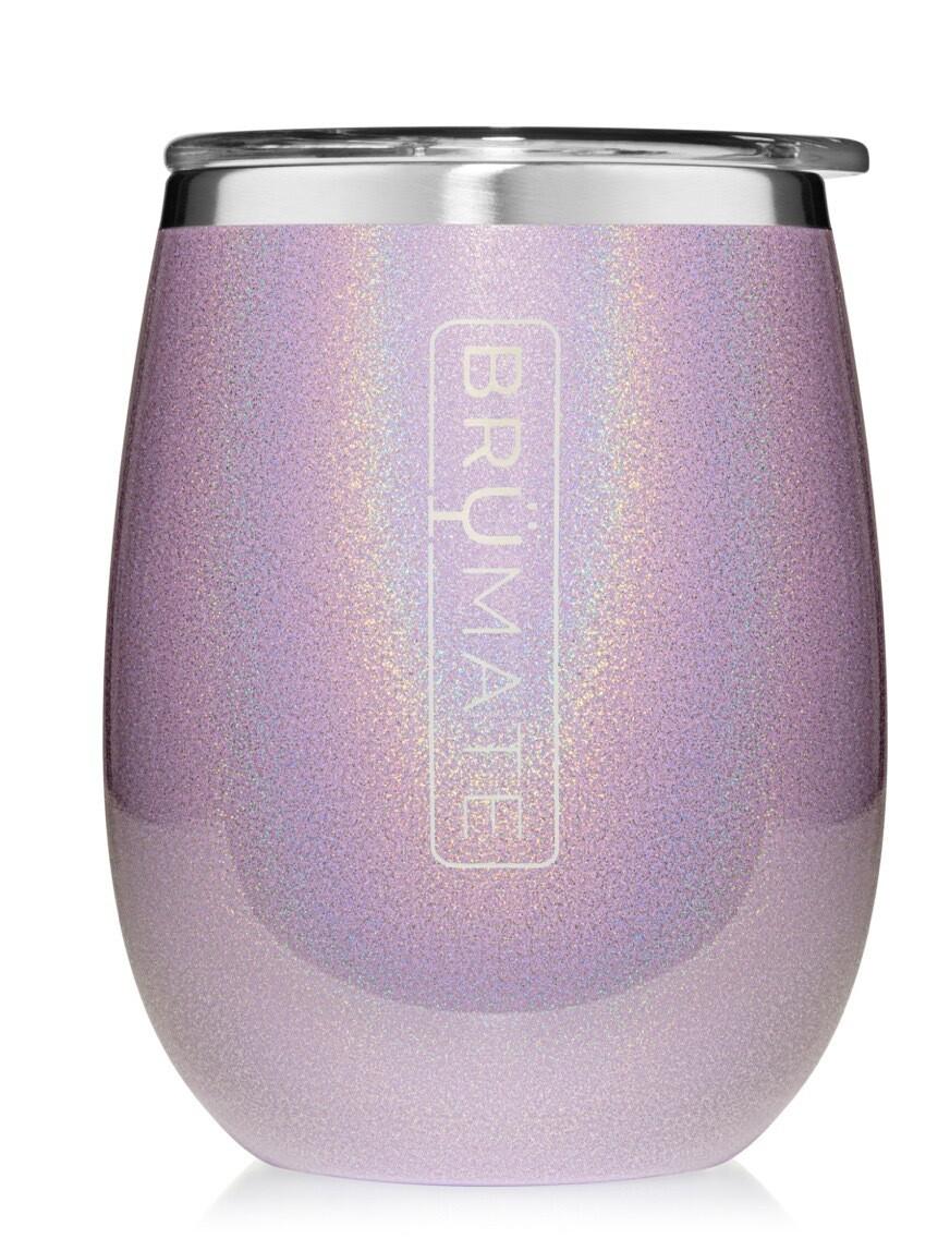 Glittered Violet Wine Tumbler