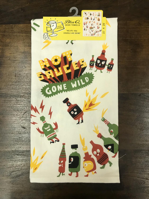 Hot Sauces Gone Wild Dish Towel