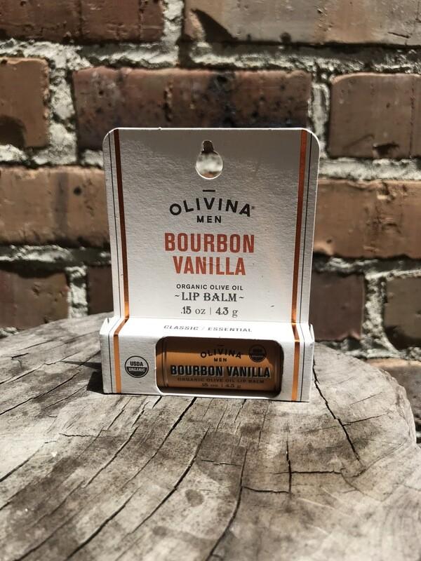 Olivina Men Bourbon Vanilla Lip Balm