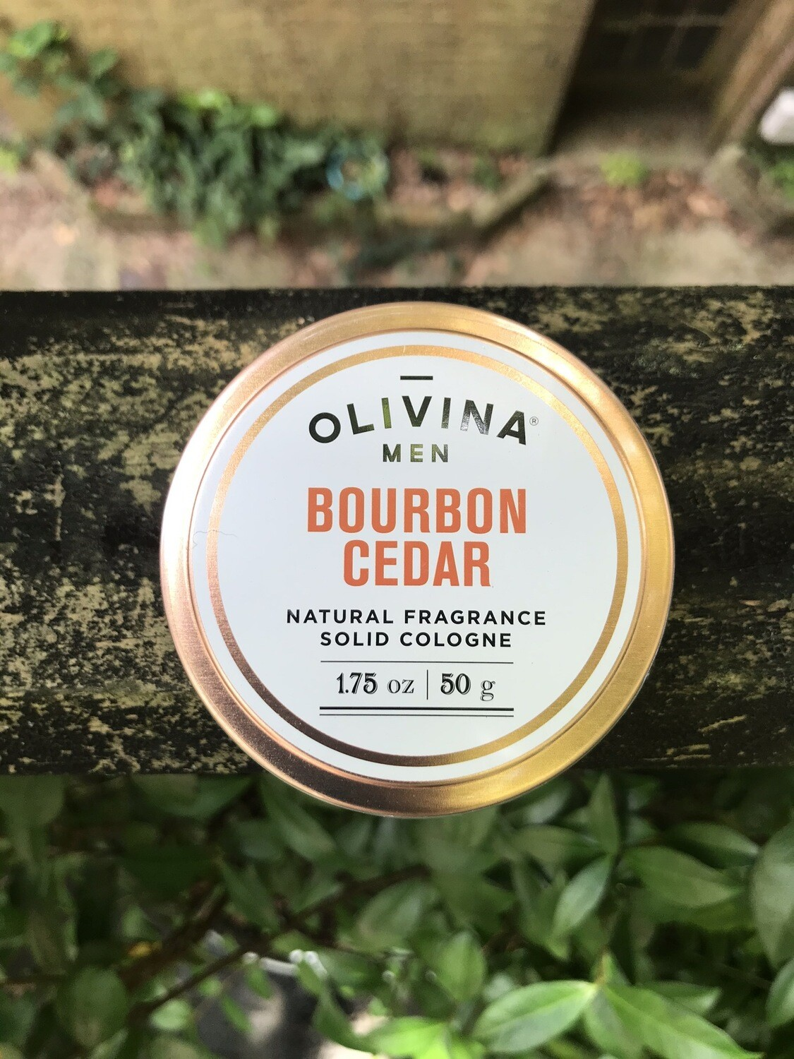 Olivina Men Bourbon Cedar Natural Solid Cologne