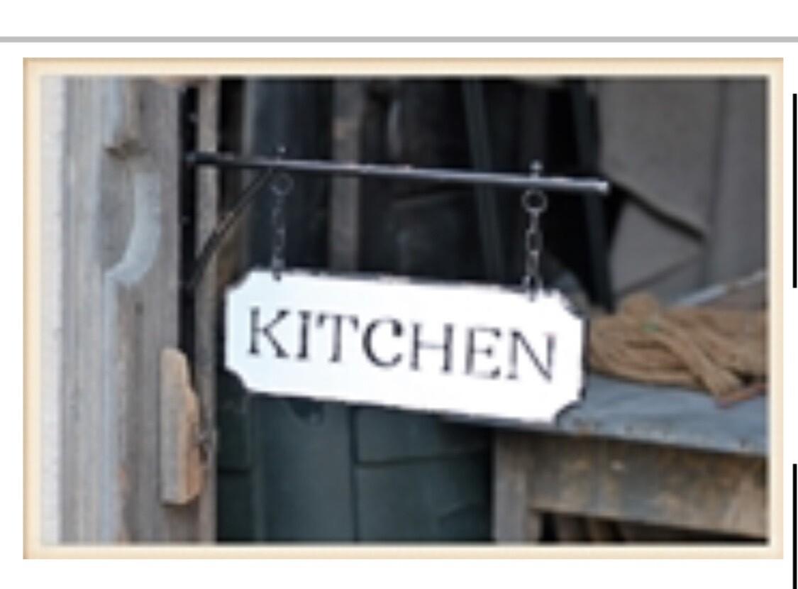 Enamel Kitchen Sign